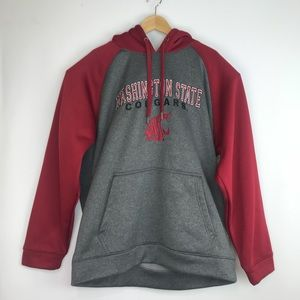 Washington State Cougars Red Grey Hoodie